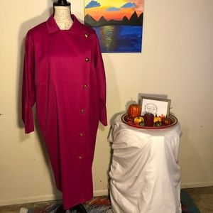 Host Pick! Harve Benard hot pink trench coat
